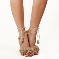 Simmi Shoes: Shoes: : Ivy Frill Ankle Tie Up Sandals