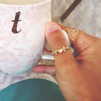 love initial ring // silver or gold