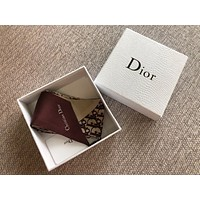 Dior Oblique Print Silk Neck Bow