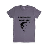 I Have Greece On My Shirt Grease Country Countries Location Funny Pun Play On Words Joke Jokes SGAL9 Women's Shirt