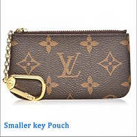 Tiktoki1 LV Louis Vuitton Flor Women Girl Monogram Neverfull Key pouch-Coin purse