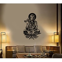 Vinyl Wall Decal Hippie Buddha Hemp Hash Quote Traveler Stickers (3937ig)