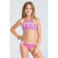 Billabong Girls - Penny Lane Reversible Bikini | Pretty Pink