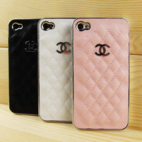 LIGHT PINK iPhone 4 and 4s leather case- (Light Pink)
