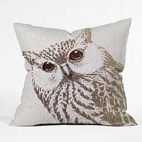 Belle13 The Intellectual Owl Outdoor Throw Pillow