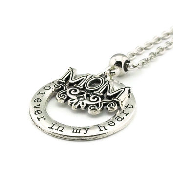 Mom Forever in my Heart Necklace