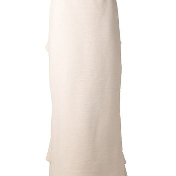 Rosie Assoulin raw knotted ruffle skirt