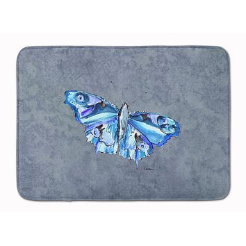 Butterfly on Gray Machine Washable Memory Foam Mat 8856RUG