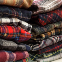 Vintage Flannel Grunge Shirts VTG Plaid