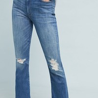 Mother The Hustler High-Rise Frayed Ankle Jeans