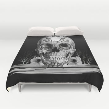 Pulled sugar, day of the dead skull Duvet Cover by Kristy Patterson Design   Society6