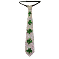 St. Patrick's Day Irish Sequin Necktie