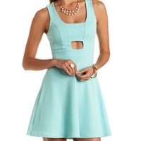 Sleeveless Cut-Out Skater Dress by Charlotte Russe