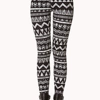 Geo Tribal Print Leggings