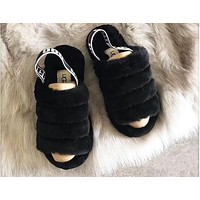 UGG tide brand female winter home leisure wild plus velvet warm slippers shoes 4#