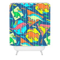 Chobopop 90s Dinosaur Pattern Shower Curtain