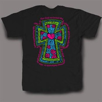 Sweet Thing Funny Cross John 3:16 Black Girly Bright T-Shirt