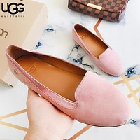 UGG Fashion New Solid Color Shoes Women Lazy Shoes Pink