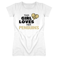 Youth This Girl Loves Her Penguins Hockey T-Shirt