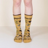 Lisa B - Trouser Floral socks in assorted colours