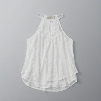 ANF Lace High Neck Halter Top   ANF Womens   Abercrombie.com
