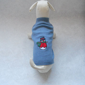 Pet Dog Turtleneck Sweater Knitwear Knitting Pullover Puppy Coat Apparel Clothes Size L