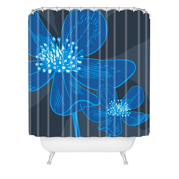 Caroline Okun Vast Anemone Shower Curtain