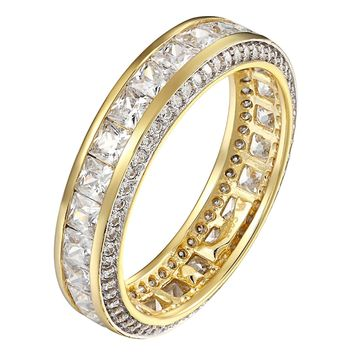 Princess Cut Eternity Simulated Diamond Womens Engagement Wedding Band Ring