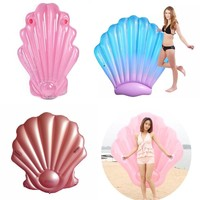 Shell Pool Float Inflatable swimming float shell Pool Float Ride-On Swimming Ring Adults Water Party Toys Blue Pink Rose Red
