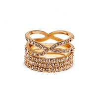 Sole Society Pave Infinity Ring Set