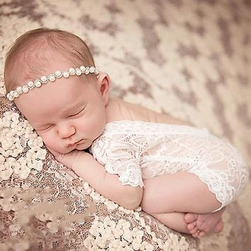 Doorbuster - Sparkling Pearl and Rhinestone Baby Headband - Holiday 2020 LIMITED QUANTITY