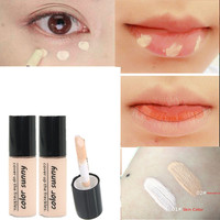 2016 New Primer Lip Eyes Black Concealer Stick Foundation Makeup Dark Eye Circle Cover Liquid Cream Concealer Hide Blemish