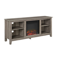 """58"""" TV Stand with Fireplace Insert"""