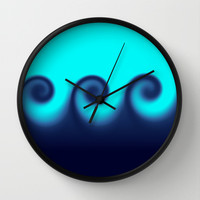 Ocean Waves Wall Clock by Beach Bum Pics