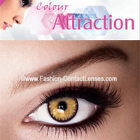 Amber Color Attraction Contact Lenses change your eyes light hazel