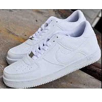 NIKE Air Women Men Casual Running Sport Shoes Sneakers Full White