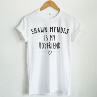 [SHAWN MENDES ebay] T-shirt fashion women's T-shirt