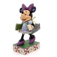 Jim Shore TOP OF THE CLASS Polyresin Back To School Minnie 4051996