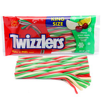 Twizzlers Christmas Licorice Twists King Size Packs: 15-Piece Box