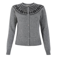 'Newman' Grey Knitted Cardigan
