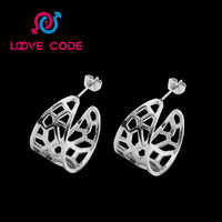Fashion Classic Lady Flower Double c Earring Women Christmas Gift Earrings-in Hoop Earrings from Jewelry & Accessories on Aliexpress.com | Alibaba Group
