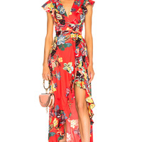 Alexis Janna Dress in Calipso Red | FWRD