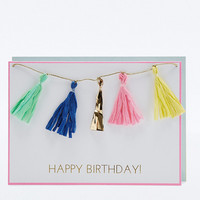 Tassels Happy Birthday Card - Urban Outfitters