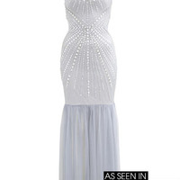 Crystal Fishtail Maxi Dress - Going Out Dresses - Dress Shop