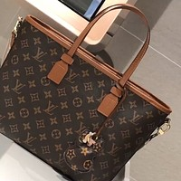 LV 2020 new classic presbyopia logo women's shopping bag handbag crossbody bag