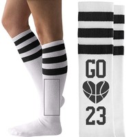 Cute Basketball Girlfriend Socks you can personalize!
