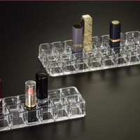 Huang Acrylic Flat 12-Lipstick Stand Holder (Clear)