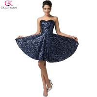 Aliexpress.com : Buy Sparkly Glitter Grace Karin Lace Up Strapless Sequin Short Navy Blue Cocktail Dresses Formal Dress For Wedding Party 2015 CL6133 from Reliable blue and white pottery suppliers on Grace Karin Flagship Store | Alibaba Group