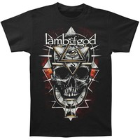 Lamb Of God Men's  All Seeing Red Slim Fit T-shirt Black