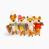 Foxy Fellow Ornaments Set of 2